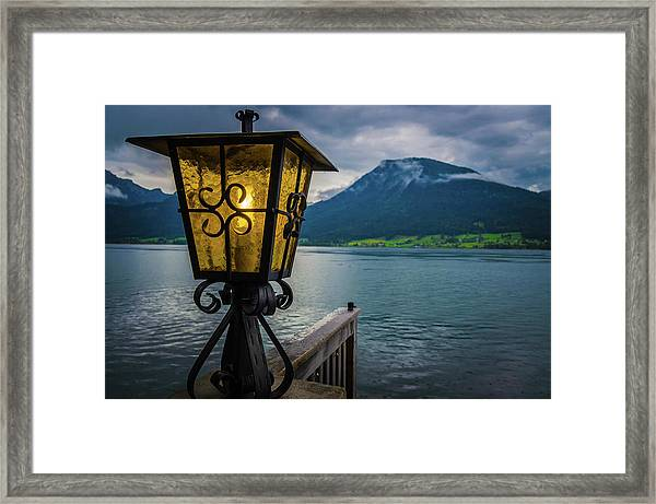 Lighthouse On The Sank Wolfgang Lake Framed Print