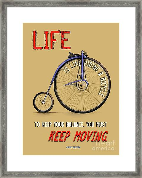 Like Riding A Bicycle Framed Print