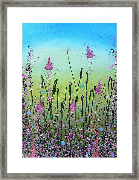 Lilacs And Bluebells Framed Print