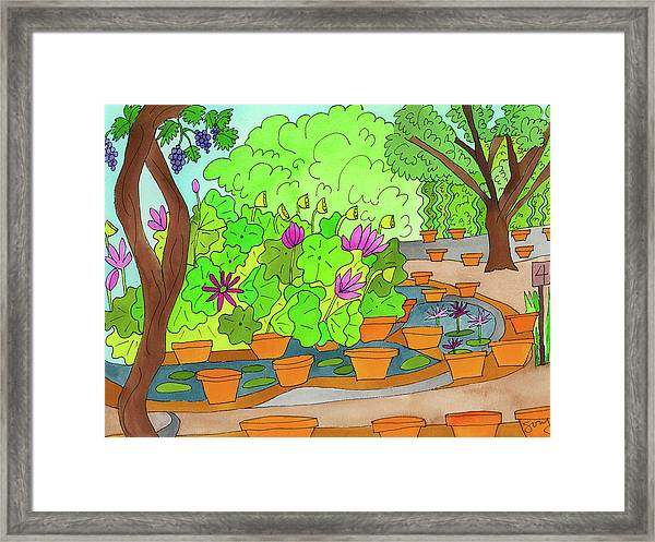 Framed Print featuring the painting Lilies by Suzy Mandel-Canter