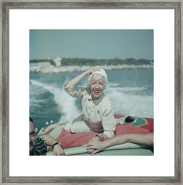 Lily On The Riviera Framed Print by Slim Aarons