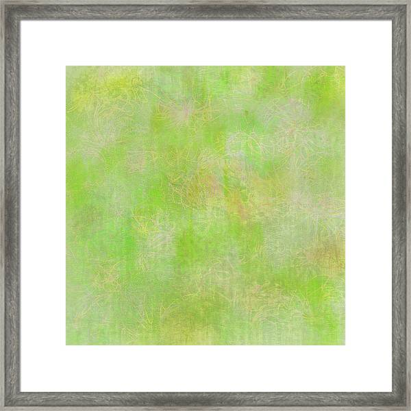 Lime Batik Print Framed Print