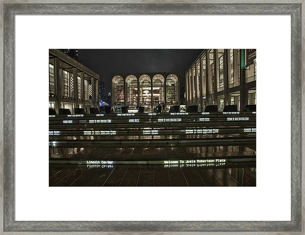 Lincoln Center For The Performing Arts Framed Print