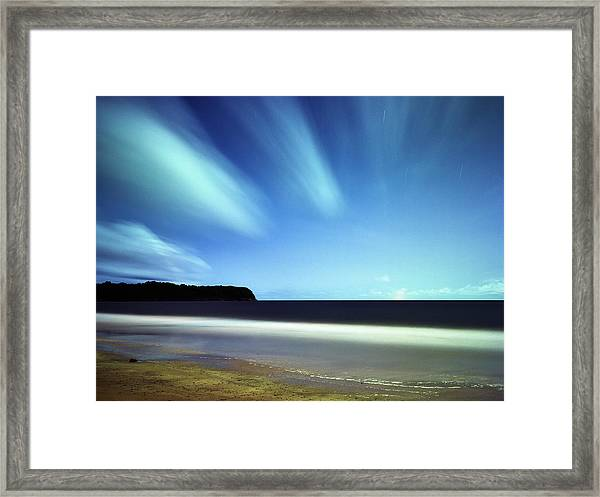 Linear Clouds Over Mayaro Framed Print