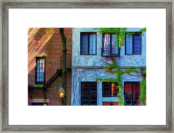 Framed Print featuring the photograph Lines, Texture, Shapes Oh My by Dee Browning