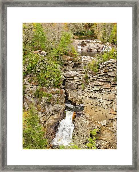 Linville Falls - Vertical Framed Print