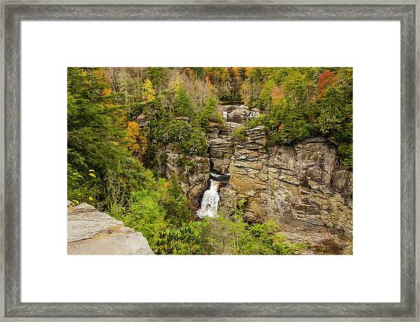Linville Falls - Wide View Framed Print