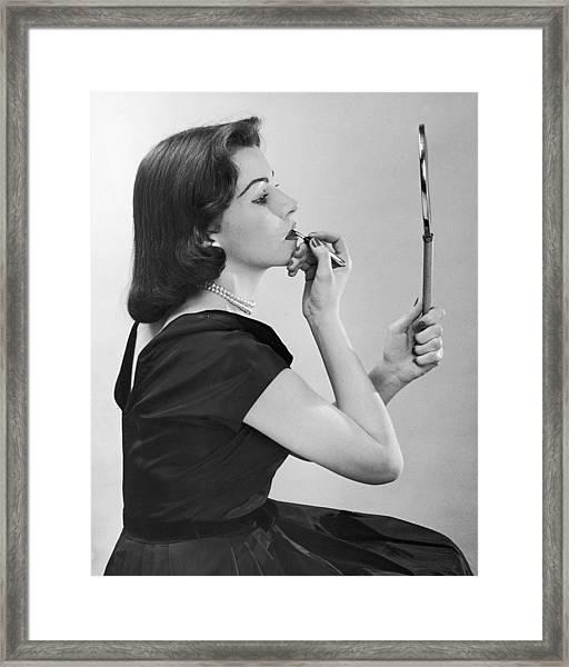 Lipstick Lady Framed Print