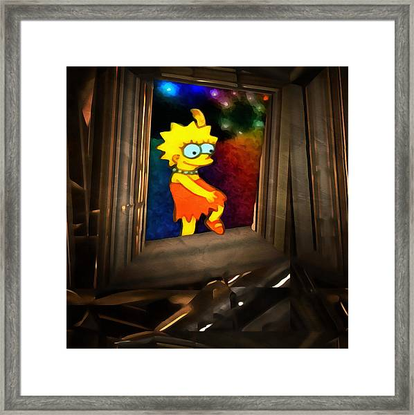 Lisa Steps Out Framed Print