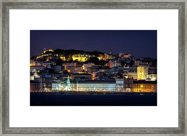 Lisbon In Christmas Time Framed Print