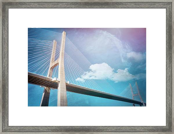 Lisbon Portugal Vasco Da Gama Bridge Framed Print