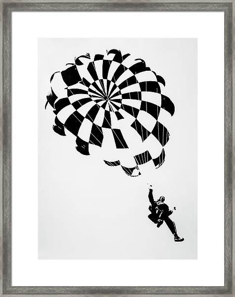 Litho Parachute Framed Print