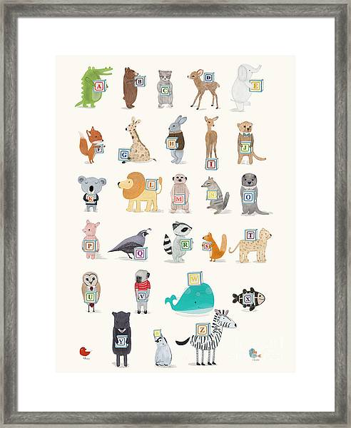 Little Alphabet Framed Print by Bri Buckley