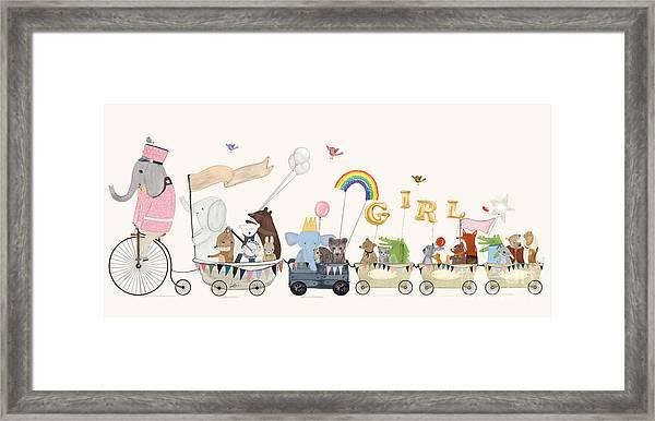 Little Girls Parade Framed Print by Bri Buckley