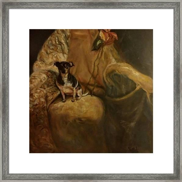 Little Miss Margo Framed Print