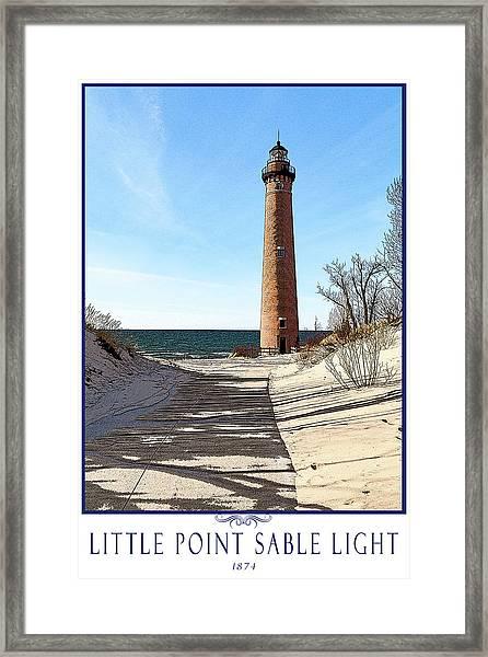 Little Point Sable Light Poster Framed Print by Fran Riley