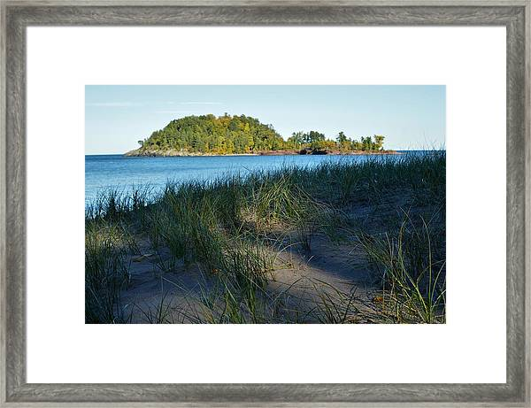 Little Presque Isle Island Framed Print