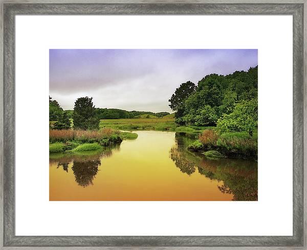 Little River Twilight Framed Print