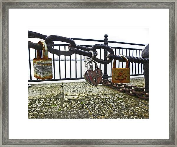 Liverpool. The Albert Dock. Eternal Love. Framed Print