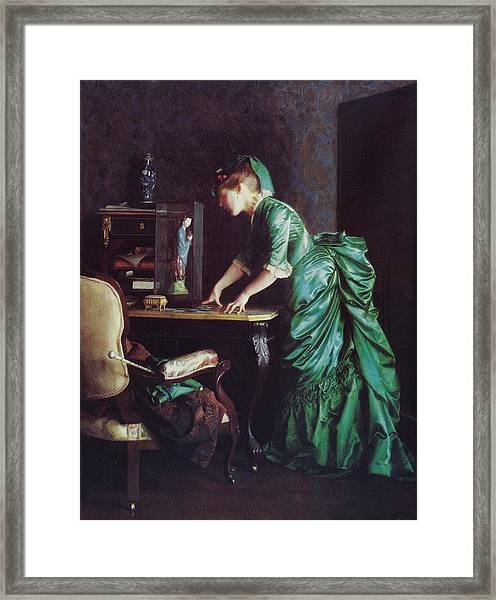 Lizzy Young In Green Framed Print