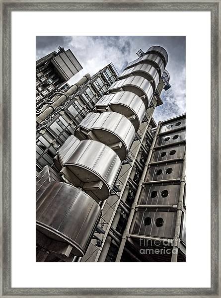 Lloyds Building In London Framed Print by Delphimages Photo Creations