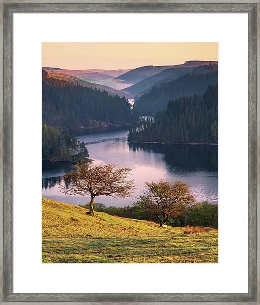 Framed Print featuring the photograph Llyn Brianne Sunrise by Elliott Coleman