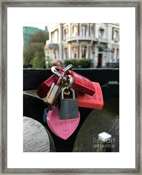 Lock Up Your Love Framed Print
