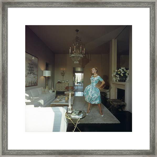 Lola Albright Framed Print by Slim Aarons