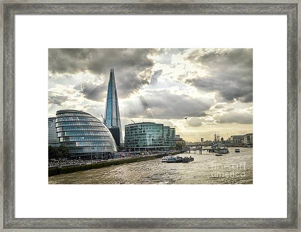 London City Hall At Sunset Framed Print