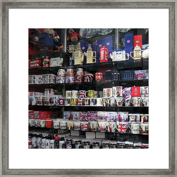London England Shop Window Framed Print