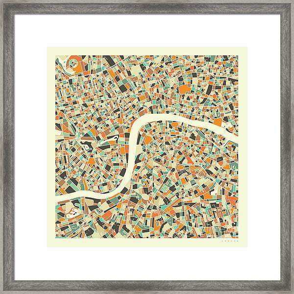 London Map 1 Framed Print