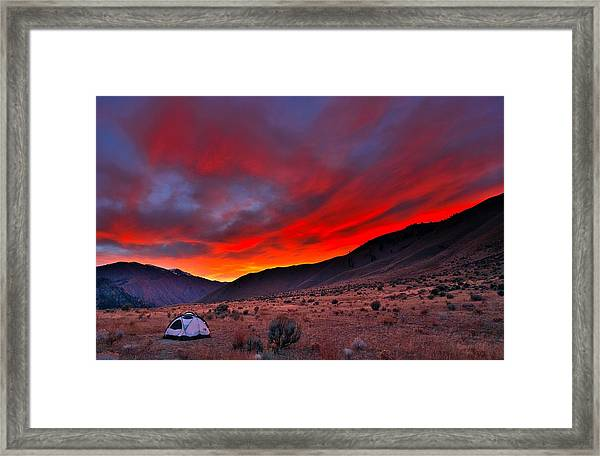 Lone Tent Framed Print