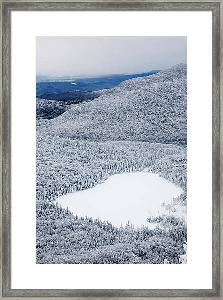 Lonesome Lake From Hi-cannon Trail Framed Print