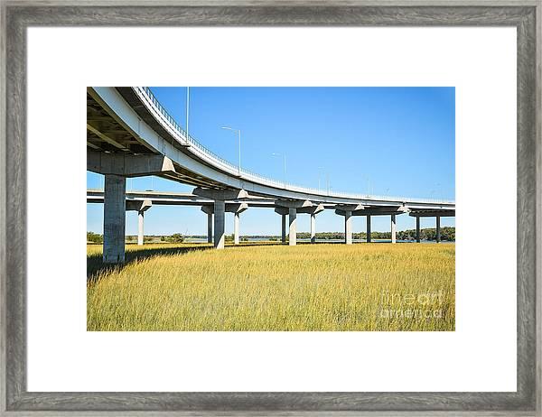 Long Concrete Bridge  Framed Print