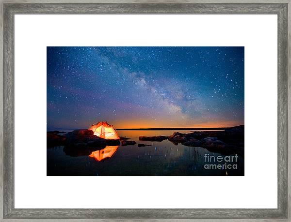 Long Exposure Of Stars Framed Print