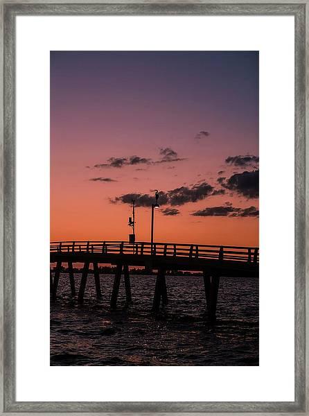Long Fishing Pier, Florida Framed Print