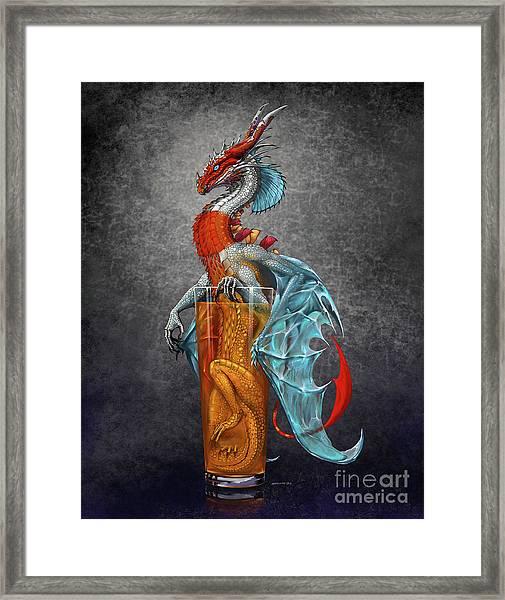 Long Island Ice Tea Dragon Framed Print