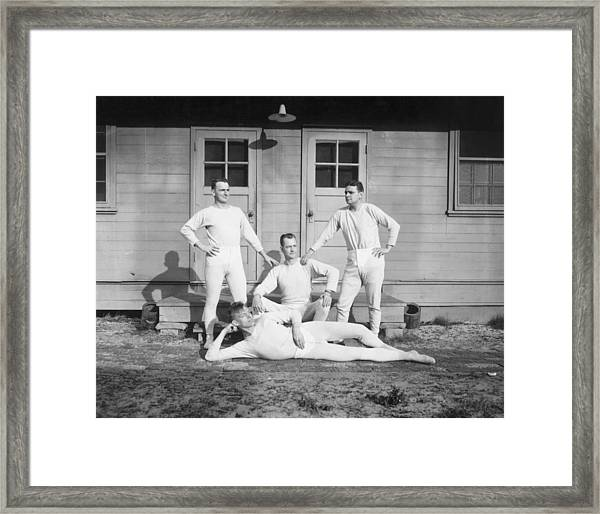 Long Johns On Framed Print by Archive Photos