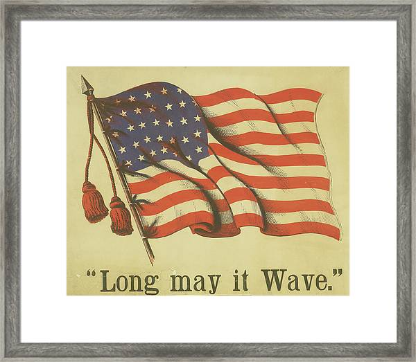 Long May It Wave Framed Print