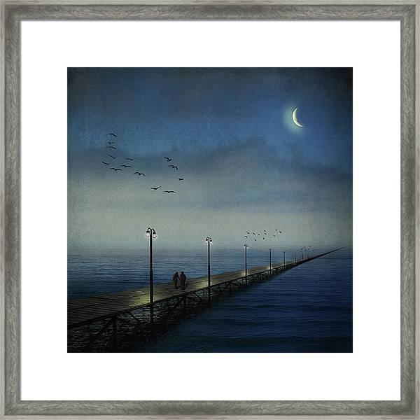 Long Pier Framed Print