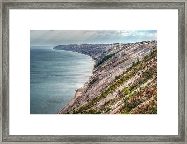 Long Slide Overlook Framed Print