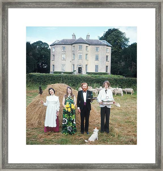Longfield House And Staff Framed Print