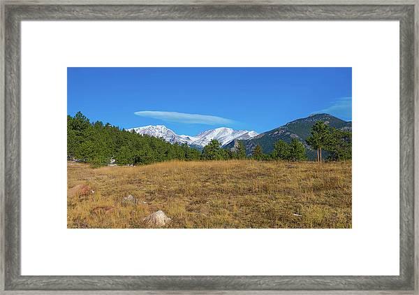 Longs Peak From Upper Beaver Meadows Framed Print