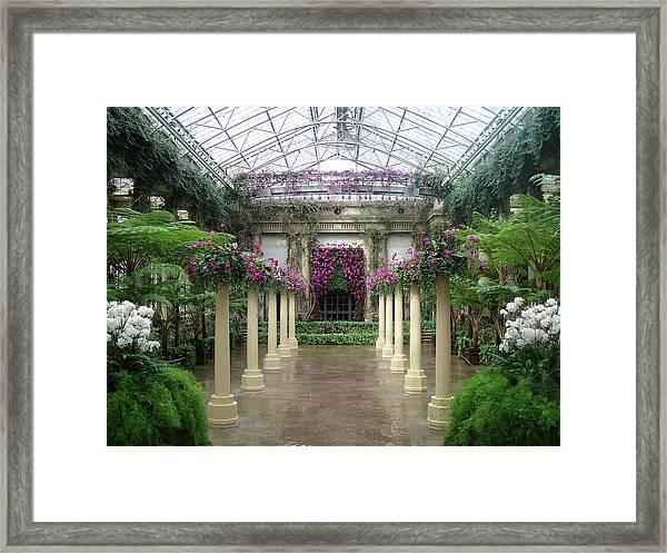 Longwood Conservatory Framed Print