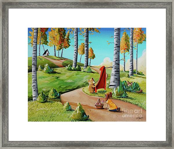 Looking For Little Red Riding Hood Framed Print