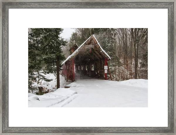 Loon Song Covered Bridge 2 Framed Print