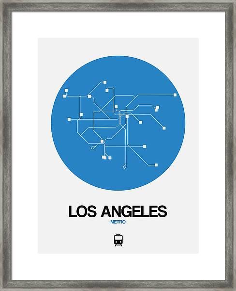 San Francisco Blue Subway Map Framed Print
