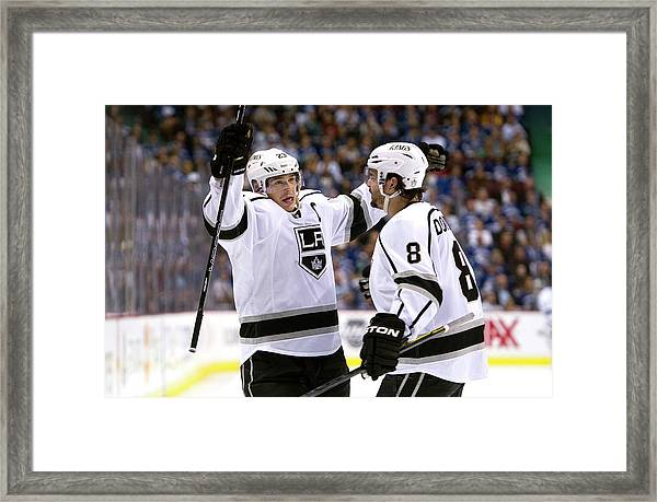 Los Angeles Kings V Vancouver Canucks - Framed Print by Rich Lam