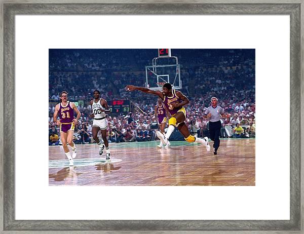 Los Angeles Lakers V Boston Celtics Framed Print