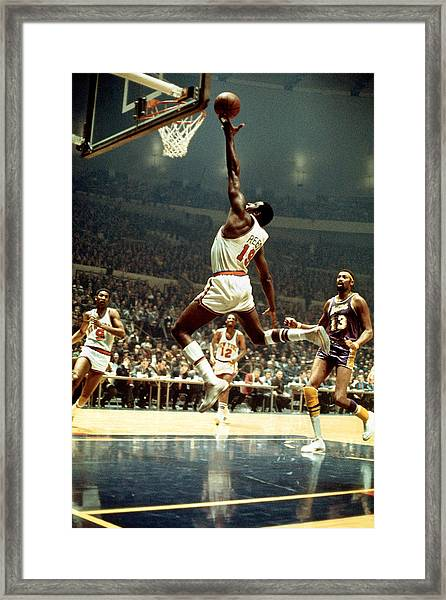 Los Angeles Lakers V New York Knicks Framed Print